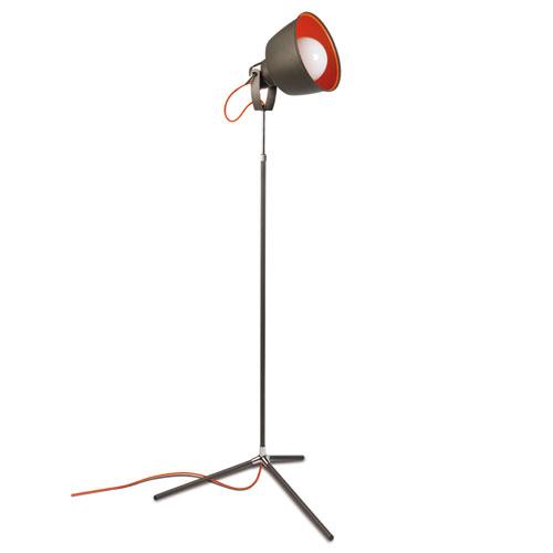 Vintage lámpara de Pie 166cm E27 Cromo gris urbano