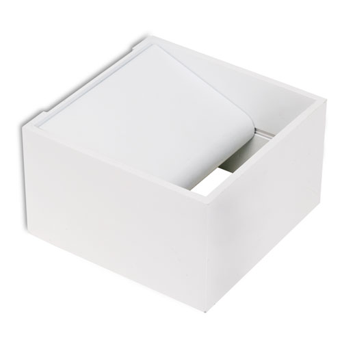 Jet Applique Carrée 10cm LED 3W blanc mat