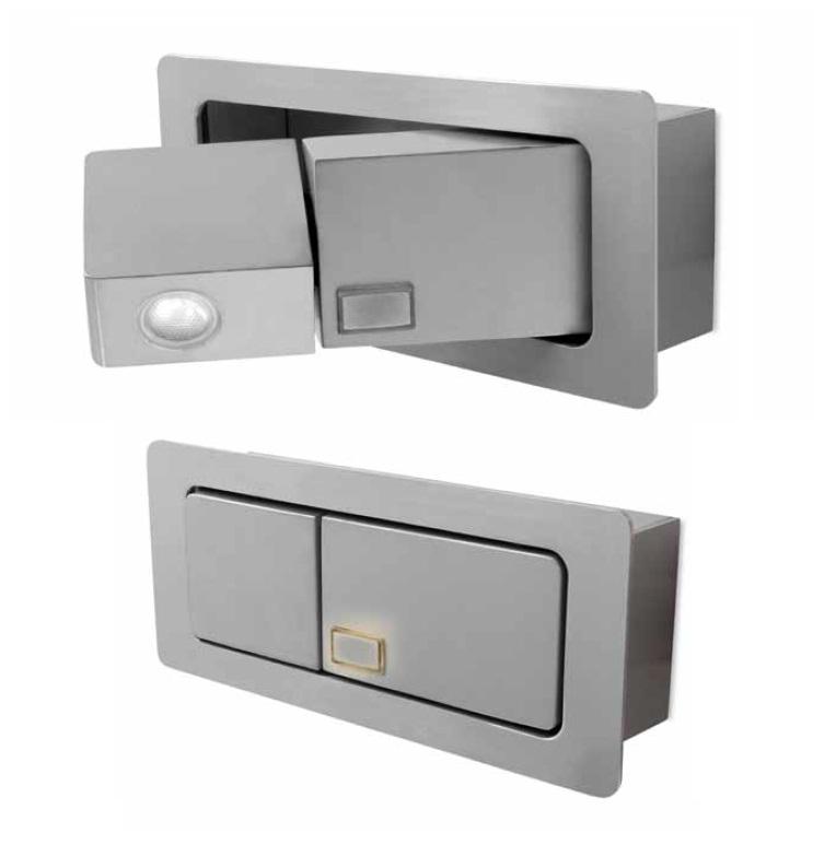 Estak Kit 2 Apliques Derecho e Izquierdo de Lectura empotrados LED 3w gris