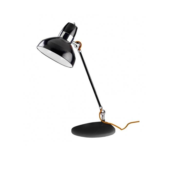 Flex Lampada da tavolo Flexo 50cm E27 14w Nero