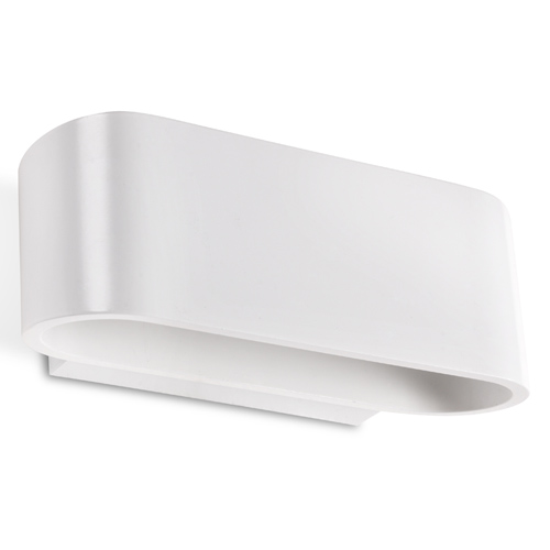 oval Wall Lamp 18cm R7s 100W white matt