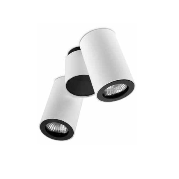 Pipe ceiling lamp 2 Spotlights GU10 6,8cm white matt