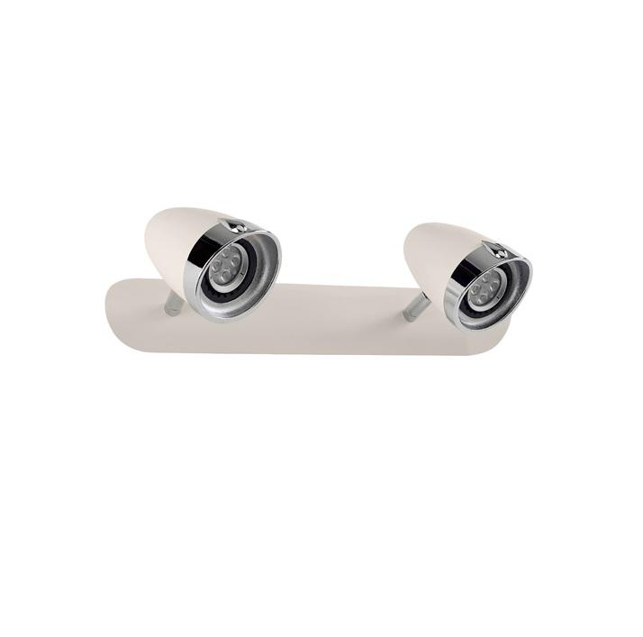 Vespa Aplique Doble Gu10 LED 2x5,5w Cromo/blanco Antiguo