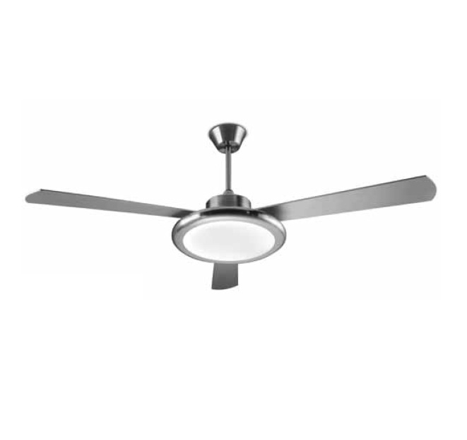 Bahia Fan with light ø132cm 2Gx13 55w Nickel Satin