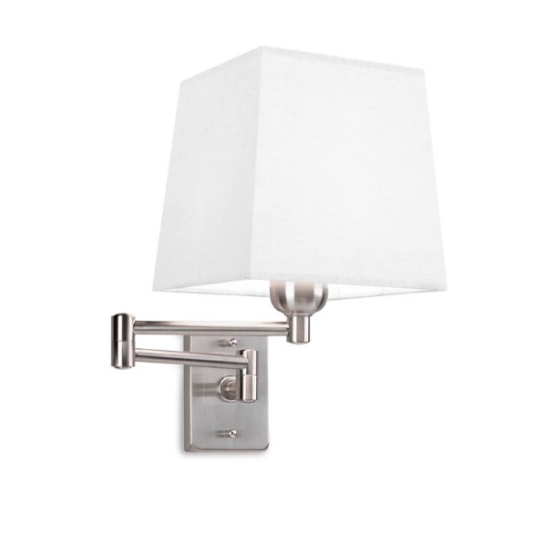Dover (Solo Structure) Wall Lamp articulado without lampshade 23/49x18x43cm E27 PL E 20w - Ní­quel Satin