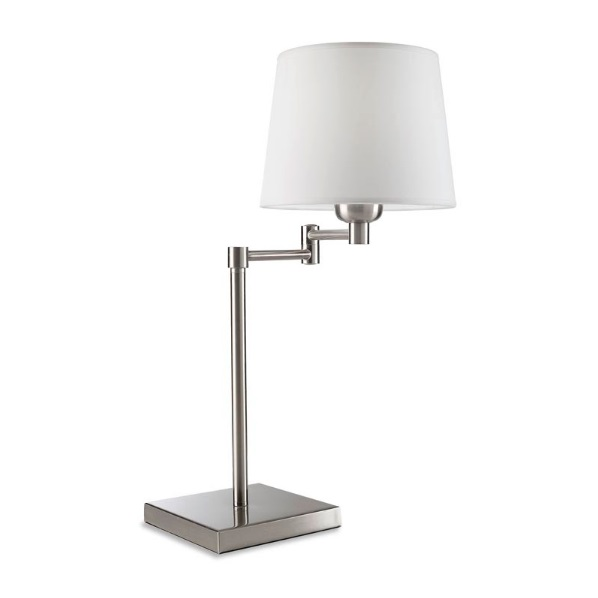 Dover (Solo Structure) Table Lamp without lampshade 38x38cm E27 PL E 20w - Nickel Satin