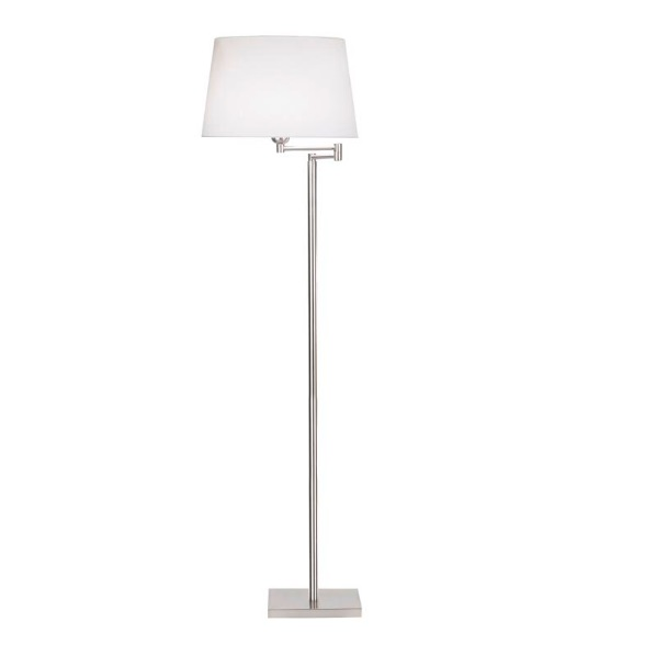 Dover (Solo Structure) Floor Lamp without lampshade 47x134cm E27 PL E 23w - Nickel Satin
