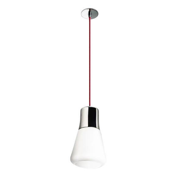 Drop Lámpara Colgante 1xE27 60W - blanco mate/Cristal opal