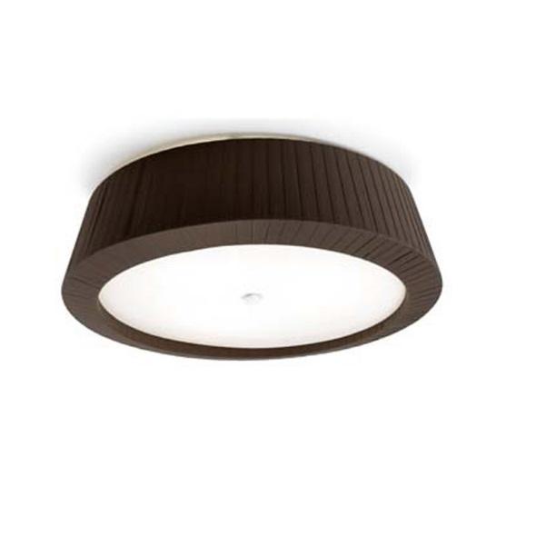 Florencia ceiling lamp 40x13,5cm 2xPL E E27 23w lampshade Brown