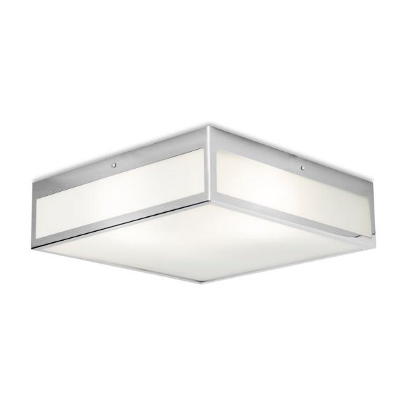 Flow ceiling lamp Square 40x40cm 3xE27 46W Chrome