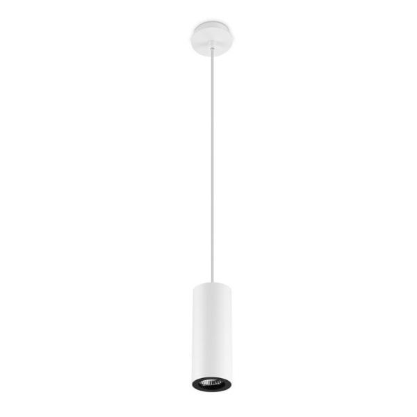 Pipe Pendant Lamp GU10 177cm 6,8cm white matt