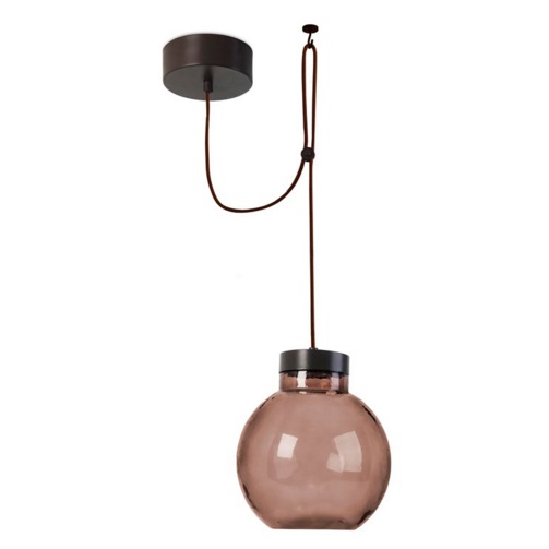 Raw Lámpara Colgante 1xLED Cree 14W - Marrón Oscuro Difusor marrón