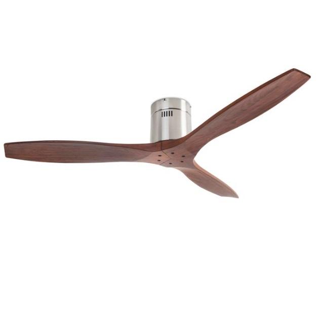 Stem Fan without light aspas Wood motor DC - Níquel Satin