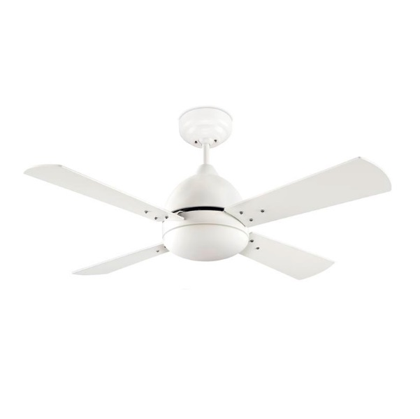 Borneo Fan with light 106cm 2xE27 13w white matt