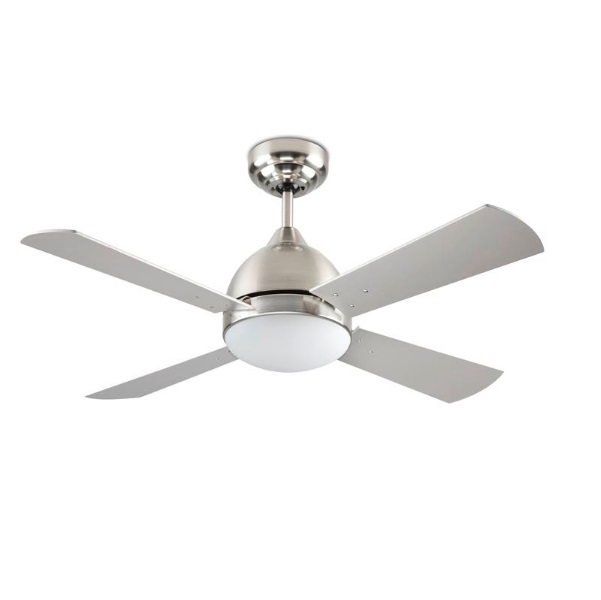Borneo Fan with light 106cm 2xE27 13w Nickel Satin