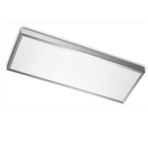 Toledo Plafón 2x2G11 40w Aluminio Satinado 640x240cm