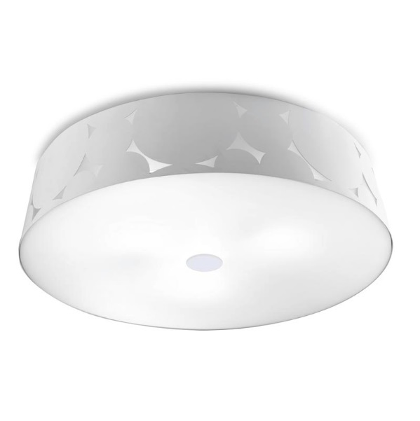 Trama ceiling lamp 50x12,1cm 3xPL E E27 23w - white