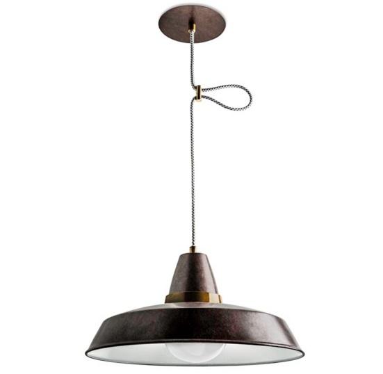 Vintage Lámpara Colgante 1xE27 marrón envejecido ámbar Dorado