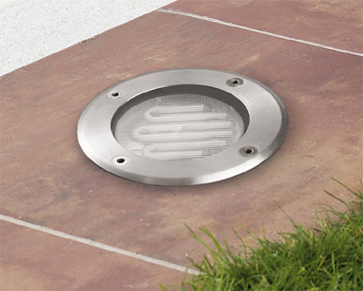Gea Recessed suelo 12x7.5cm GX 53 9w Stainless Steel AISI 304