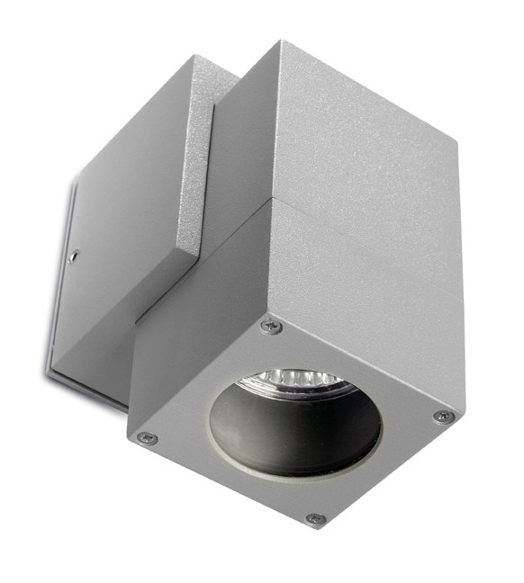 Icaro Wall Lamp Outdoor 6x10x12x8cm Grey 1xGU10 50W