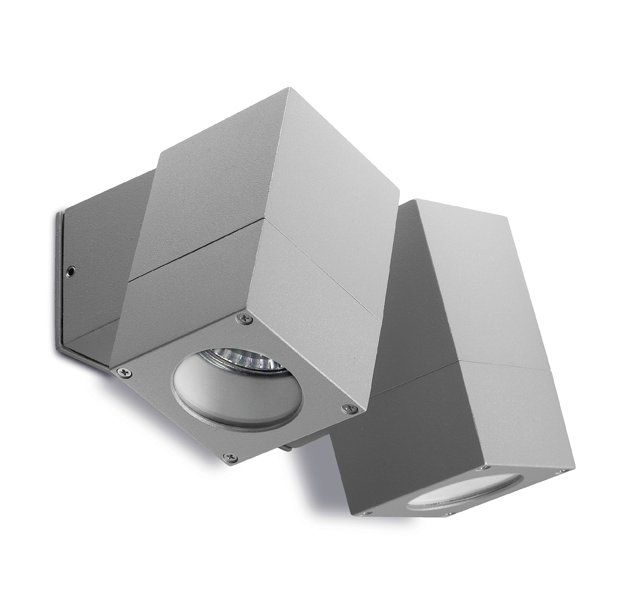 Icaro Wall Lamp Outdoor 2 Headers 12x6x10x14cm Grey 2xGU10 50W
