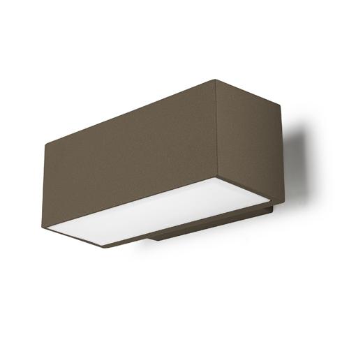 Afrodita luz de parede Ao ar Livre 22x9x12cm R7s 150w Halogênio Marrom