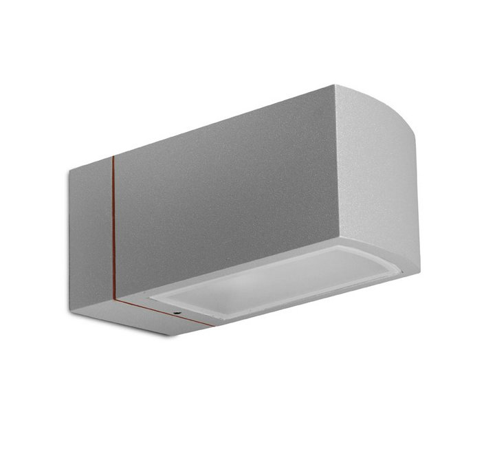 Afrodita Wall Lamp 23x11x11cm E27 100W Grey