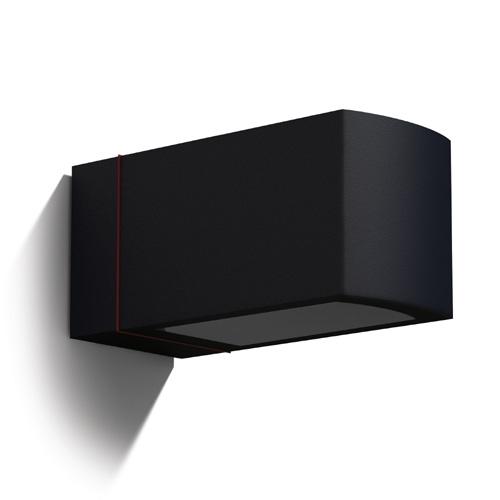 Afrodita Wall Lamp 23x11x11cm E27 100W Grey Urbano