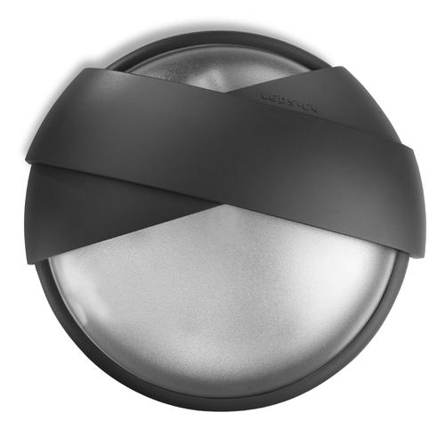Eclipse Wall Lamp Round 2xE 27 / 2xPL elect E27 80w Grey urbano