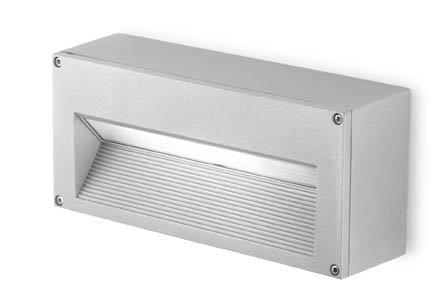 Micenas Wall Lamp Surface 26cm G24d-3 26w Grey