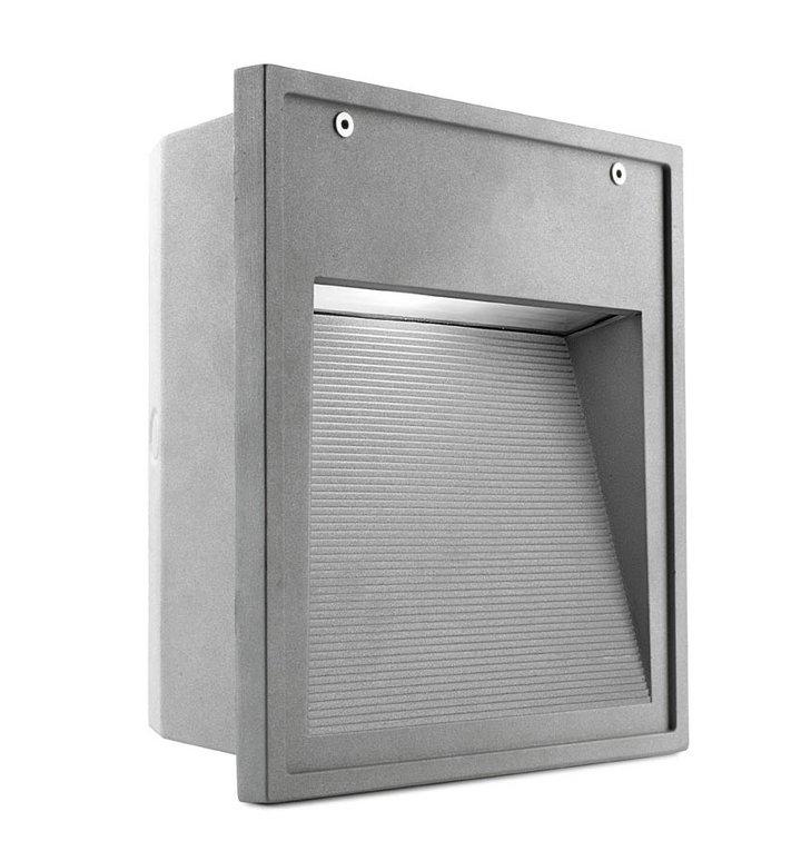 Micenas Recessed 26x25x10cm G12 HID 35W Grey