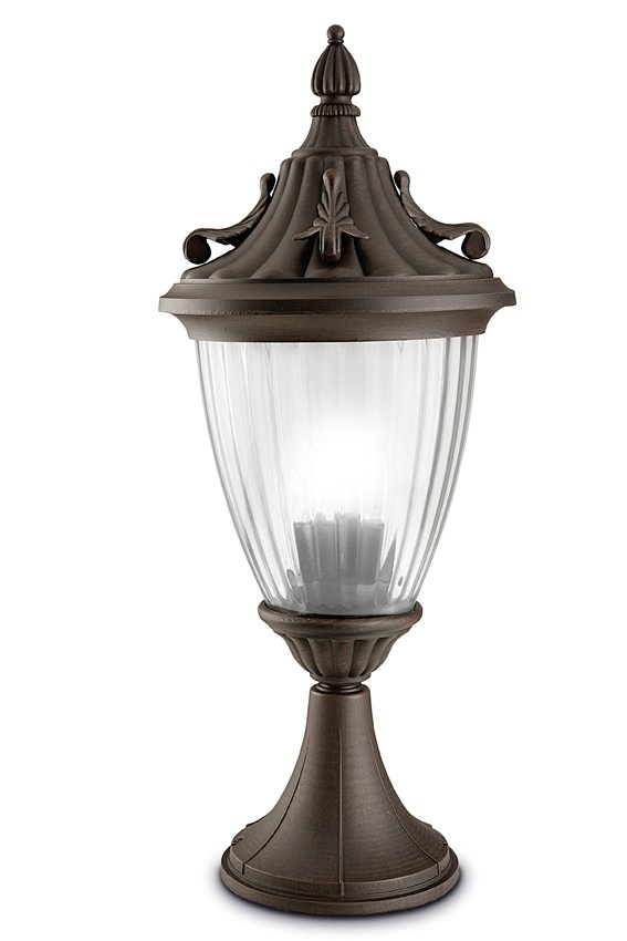 Galatea Lantern ø30x70cm Brown Oxide