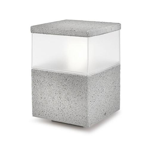 Cubik Sobremuro 15x15x23cm PL E27 60W Gris