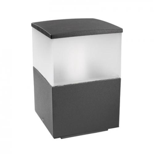 Cubik Sobremuro 15x15x23cm PL E27 60W Gris Urbano