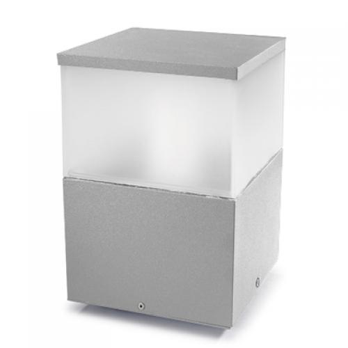 Cubik Sobremuro 20x20x30cm PL E27 100W Gris