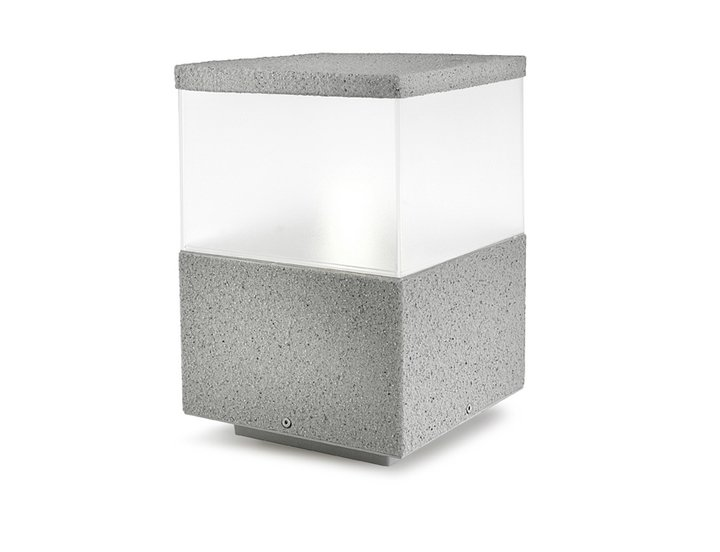 Cubik Lantern 20x20x30cm PL E27 stone grey
