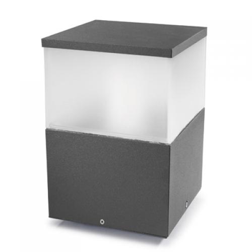 Cubik Lantern 20x20x30cm PL E27 100W Grey Urbano