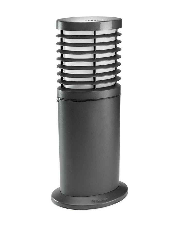 Nott Baliza Ovalada 23x16cm E27 30w gris Urbano