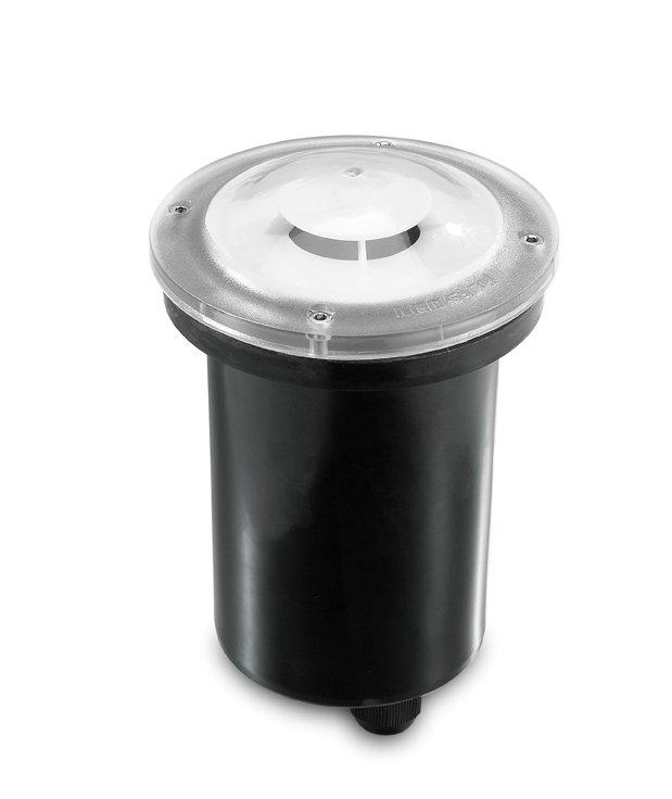 Xena Recessed suelo 11cm Diffuser Transparent GU10 14w Transparent