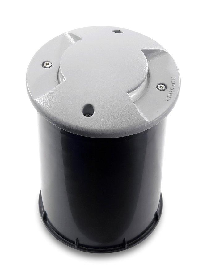 Xena Recessed suelo ø13cm protegido 2 salidas LED 12x0,1w Grey