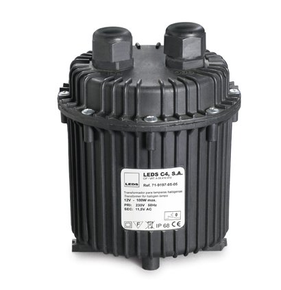 Transformador estanco para lámparaas Halógenas 230/12V DC 100W IP68 1m