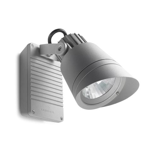 Hubble Wall Lamp Outdoor with visera ø16x25x38cm G8,5 35W HID Grey