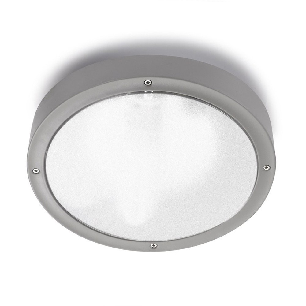 Basic Wall lamp/ceiling lamp 30cm E27 2x23w Grey