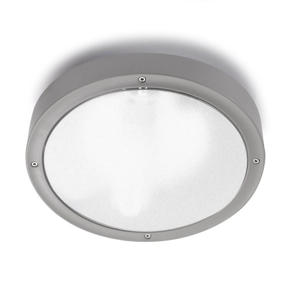 Basic Aplique/Plafón 30cm E27 2x23w gris