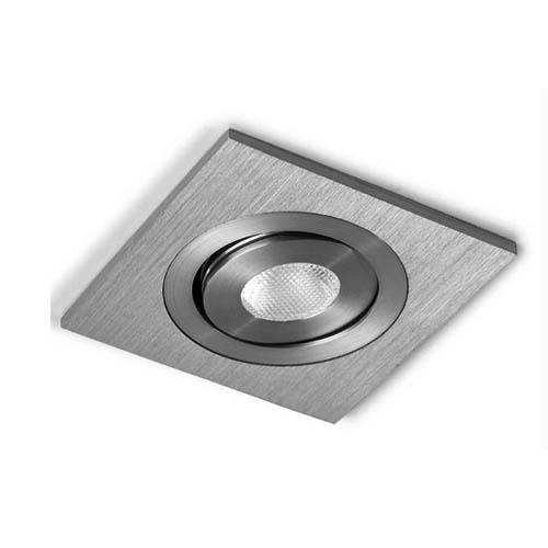 Oxy Empotrable Individual Cuadrado luz Cálida Aluminio Anodizado
