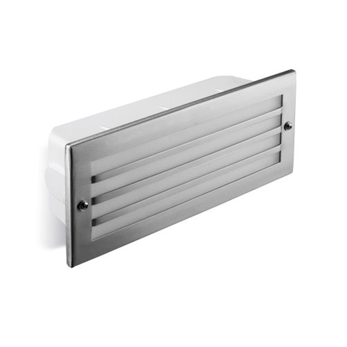 Hercules Recessed wall 24x10x8cm Stainless Steel AISI 316 1xE27 MAX 60W