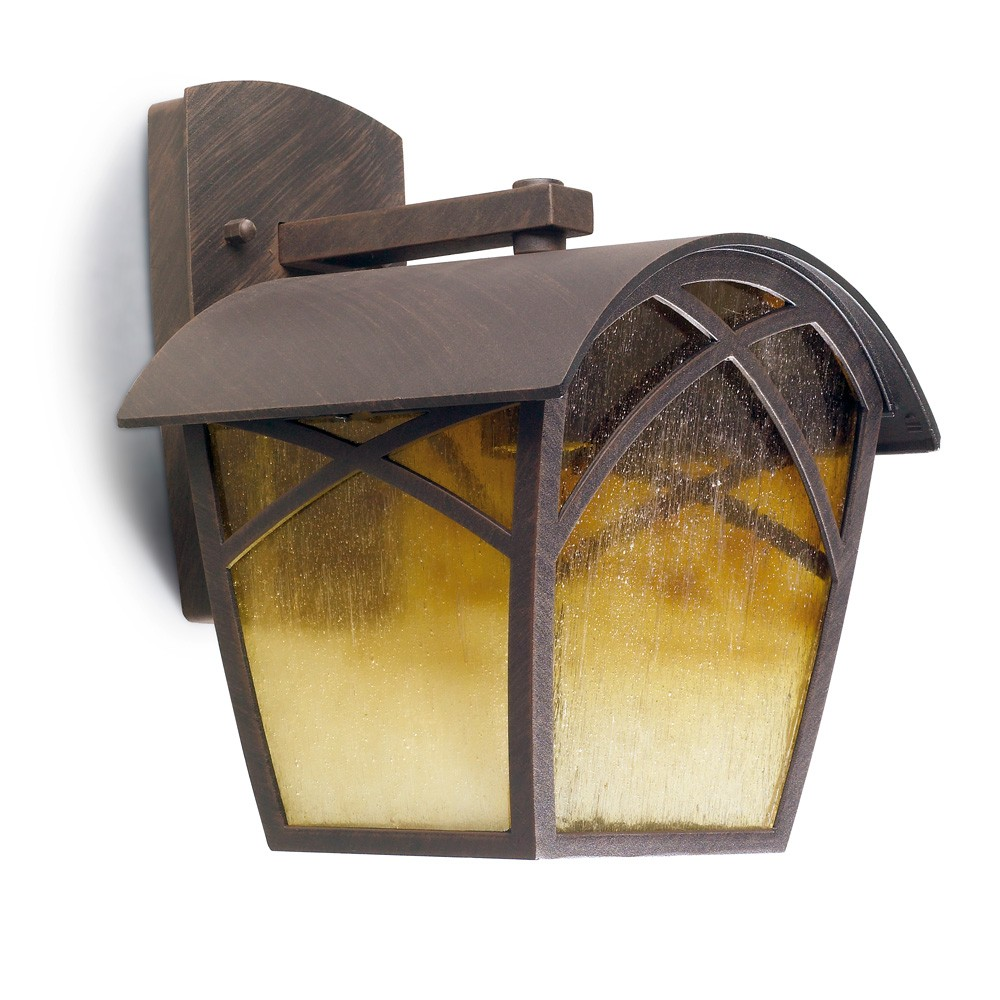 Alba Wall Lamp Outdoor with arm 22x23x28cm Brown oxido 1xE27 MAX 100W