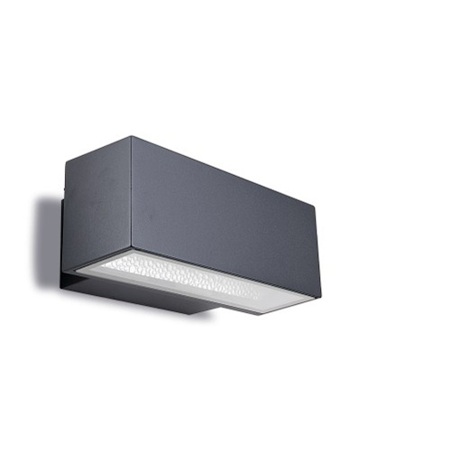 Afrodita Wall Lamp Outdoor 30x12x17cm LED Cree 8x3w 4200K Grey Urbano