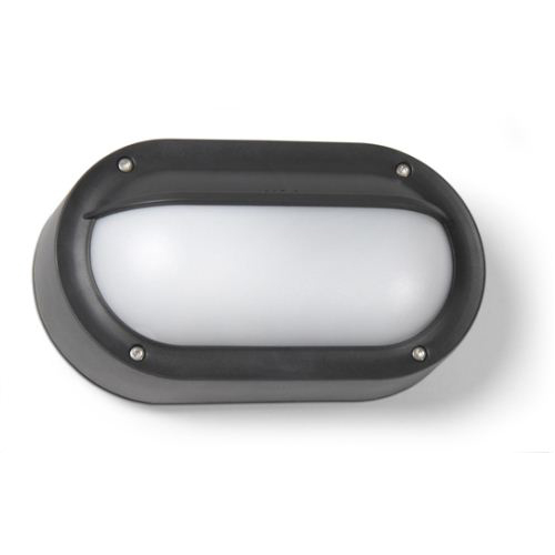 Basic Wall Lamp Outdoor 22cm PL E27 16w Grey Urbano