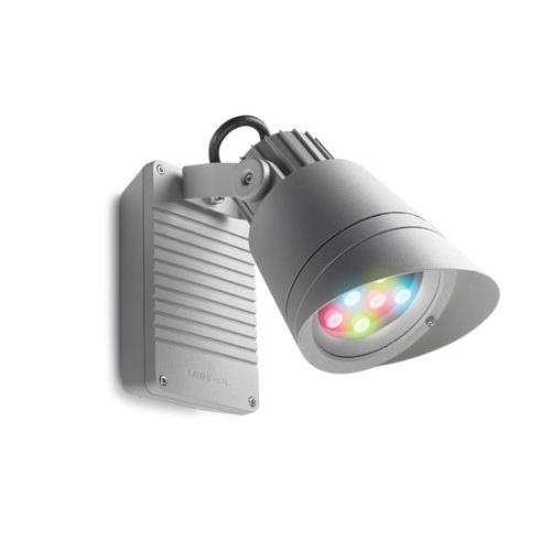 Hubble Apliquie Ao ar Livre ø16cm LED 9x2.3w RGB Cinza